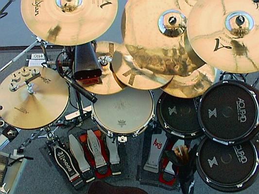 Rick Allen drumset