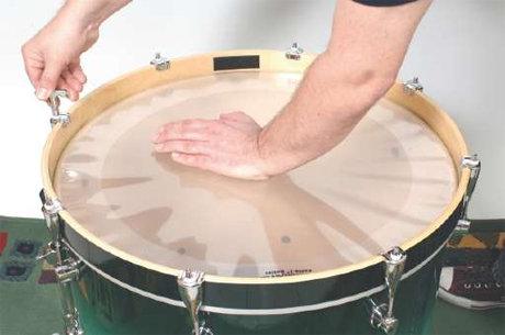 Bassdrum, nieuwe drumvellen kopen