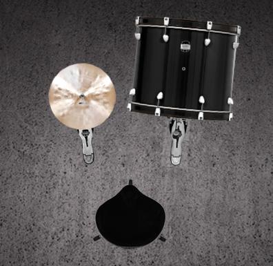 Drumstel opzetten